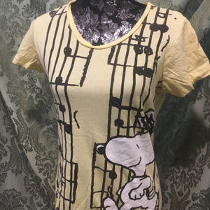 Peanuts' Musical Snoopy T-Shirt, L